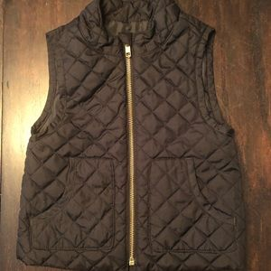 Girls Toddler Black Vest